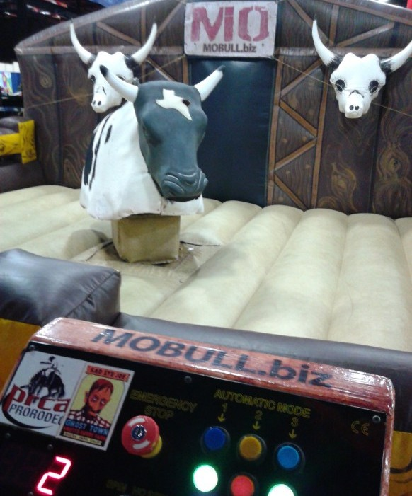 Renting mechanical bull is made easy by calling by b-amused.They will take care of all you needs when renting mechanical bull.When you contact b-amused about renting mechanical bull they will need your location, date, and time needed.B-amused will bring the mechanical bull for your rental on time and ready to entertain your guest. The guest will really enjoy the mechanical bull rental you have provided for them.Your guest will come to you and say thank you so much for renting mechanical bull for your party. They will ask b-amused do mechanical bull rentals work for church events, birthday parties, company parties, fairs, festivals, project graduations, graduation parties and rodeos. B-amused will say well sure mechanical bull rentals work for church events, birthday parties, company parties, fairs, festivals, project graduations, graduation parties and rodeos. The cities in Texas served by mechanical bull rentals are Dallas, Addison, Plano, Austin, Waco, Frisco, Fort Worth and Ennis.Some other cities severed by b-amused mechanical bull rentals are Abilene, Fair field, Denton, Houston, Red Oak, Garland, Bell, Richardson, Irving, Cedar Hill, Gram, May bank, Temple and Farmers Branch. So quit just thinking about renting mechanical bull.