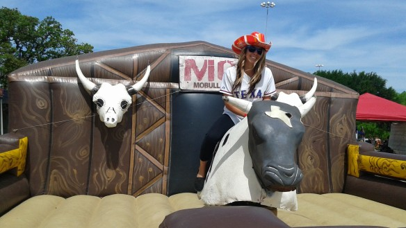 mechanical bull rentals for Texas and surronding states including Oklahoma, Arkansas, Lousiana. A mechanical bull rental is the most fun you can have at your location.