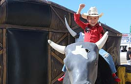 Kiddos first rodeo will be enjoyed by all the quest. From kids all the way up to adults. Everyone wants to part of the first rodeo. It is very simple just hire mobull and make sure you have plenty of space to sent up for your first rodeo. All the guest at the first rodeo will have a good time. they will ask where did you find this perfect set up to entertain all the guest. Found them online looking for the best mechanical bull rental company. Just so happens that mobull is the absolute best in the business. They arrived ahead of time with mo the mechanical bull rental. Mobull did a preride safty inspection before the fun began for all the guest. Once the riding srtarted it went on and on. The only time it stopped is when food and drink was served at the first rodeo.