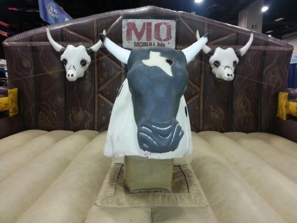Mobull Mechanical Bull rentals with Mo for churchs, schools, festival, rodeos, project graduations, birthday parties and fairs.Mechanical bull rentals and Mo are fun for all ages.When mobull brings Mo to your location you will have an experience like no other.Mo is by far the best mechanical bull rental company in Texas.They have taken mechanical bull rentals to a new level.No one has done the things mobull has in branding it's bull Mo. Custom control design special business cards and more.Mo is the creation of Joe Bressie along with Ray Blakleys help.They have brought the Mo concept to the point people think its a franchise. The whole thing has been a challenge but well worth it. ""
